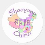 Shaoyang China Classic Round Sticker
