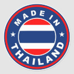 product country flag label made in thailand