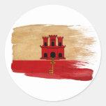 Gibraltar Flag Classic Round Sticker