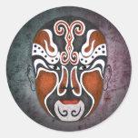 Chinese Opera Masks - Guo Huai Classic Round Sticker