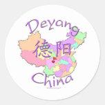 Deyang China Classic Round Sticker