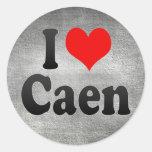 I Love Caen, France. J'Ai L'Amour Caen, France Classic Round Sticker