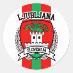 Ljubljana Classic Round Sticker