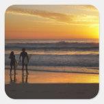 Australia, Queensland, Gold Coast, Surfers at Square Sticker