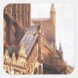 Cityhall in Lbeck by Cornelis Springer Square Sticker
