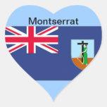 Flag of Montserrat Heart Sticker