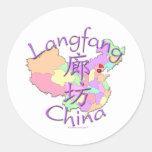 Langfang China Classic Round Sticker