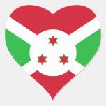 Burundi Flag Heart Sticker