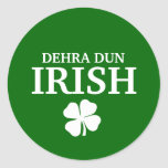 Proud Custom Dehra Dun Irish City T-Shirt Classic Round Sticker