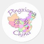 Pingxiang China Classic Round Sticker