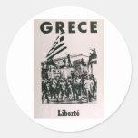 Greek Junda - Against Dictatorship Classic Round Sticker