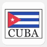 Cuba Square Sticker