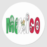 Mexico Peace Letters Sticker