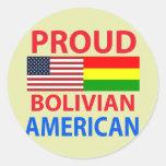 Proud Bolivian American Classic Round Sticker