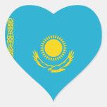 Kazakhstan Flag Heart Sticker