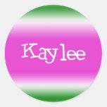 Kaylee Classic Round Sticker