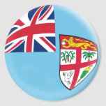 20 small stickers Fiji flag