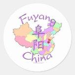 Fuyang China Classic Round Sticker