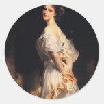 John Singer Sargent - Nancy Astor Classic Round Sticker