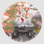 Daikoku it causes, the cat float island shrine classic round sticker