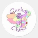 Quzhou China Classic Round Sticker