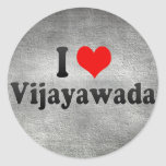 I Love Vijayawada, India Classic Round Sticker
