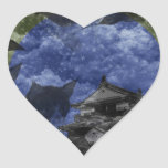 Matsuyama castle and snow and cat heart sticker