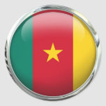 Cameroon Flag Glass Ball Classic Round Sticker