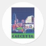 Vintage Calcutta Kolkata India Classic Round Sticker