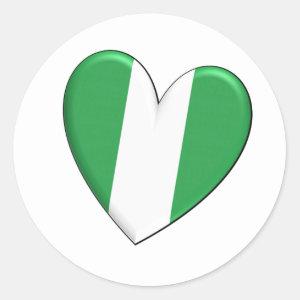 Nigeria Heart Flag Sticker