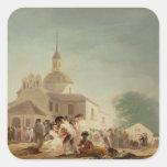 The Hermitage of San Isidro, Madrid, 1788 Square Sticker