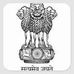 india emblem square sticker