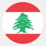 Low Cost! Lebanon Flag Classic Round Sticker