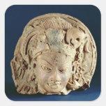 Head of Ardhanarisvara, Newal, Unnao (terracotta) Square Sticker