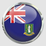 British Virgin Islands Flag Glass Ball Classic Round Sticker