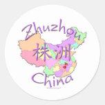 Zhuzhou China Classic Round Sticker
