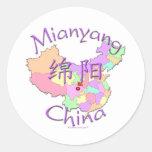 Mianyang China Classic Round Sticker