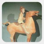 Horseman, from Xianyang, Shaanxi Square Sticker