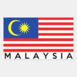 malaysia flag country text name rectangular sticker