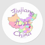 Jiujiang China Classic Round Sticker