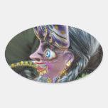 Carnival in Oruro, Bolivia Oval Sticker