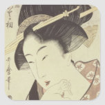 Bust portrait of the heroine Kioto of the Itoya Square Sticker