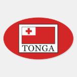 Tonga Oval Sticker