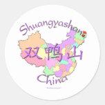 Shuangyashan China Classic Round Sticker