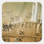 Admiral Amedee Anatole Courbet Square Sticker