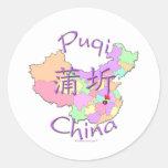 Puqi China Classic Round Sticker