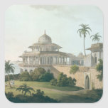 The Chalees Satoon, in the Fort of Allahabad on th Square Sticker