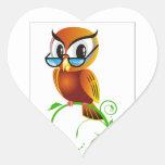 imagem de coruja heart sticker