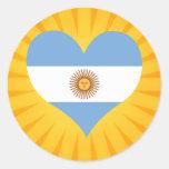 Best Selling Cute Argentina Classic Round Sticker
