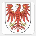Coat of arms Brandenburg Square Sticker